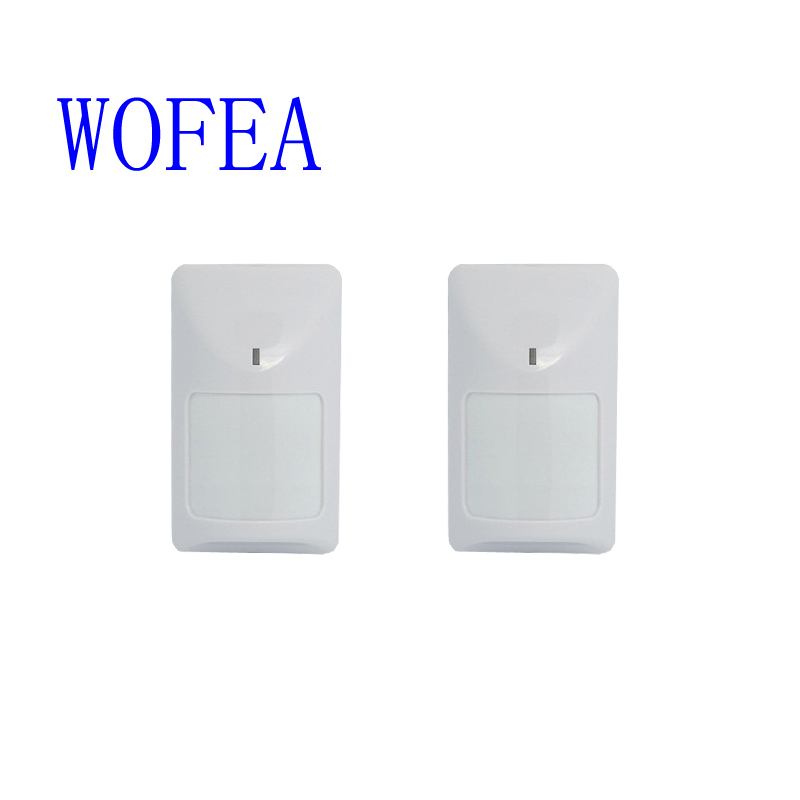 WOFEA 2 PIECES CE Approved Wired Infrared PIR sensor Wired motion detector wired pir motion detector free shipping