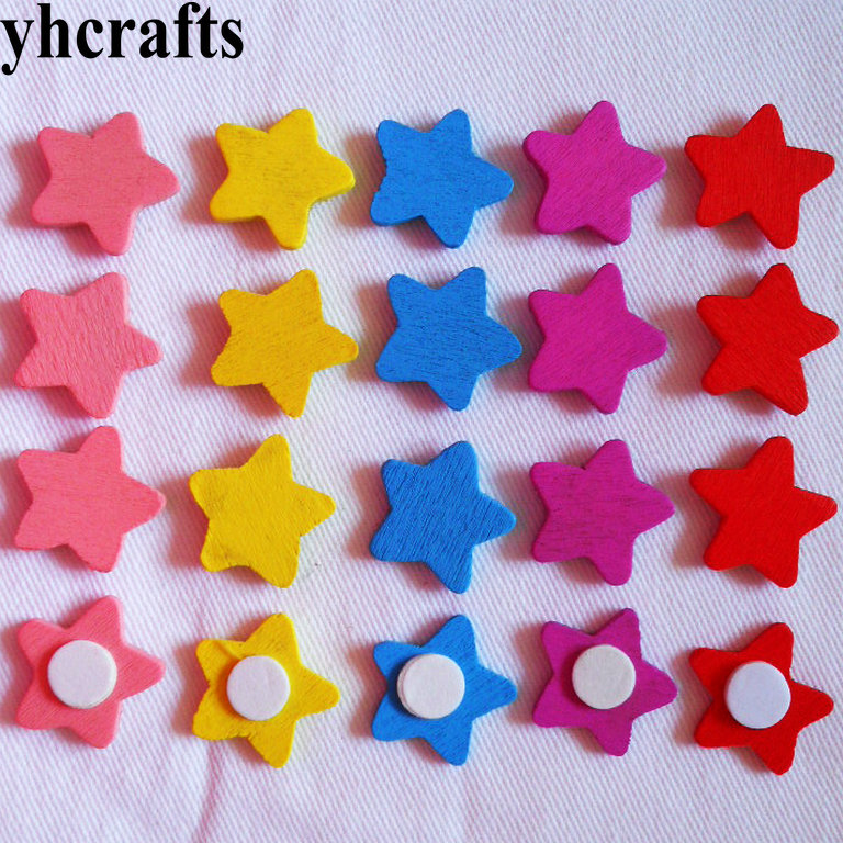 50PCS/LOT.Mix star wood stickers numbers ladybug smile animals dragonfly butterfly stickers Kids room ornaments Craft diy toyOEM
