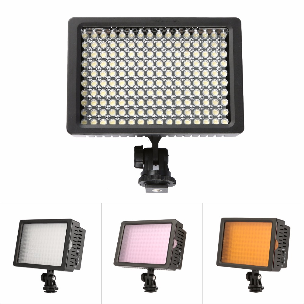 Lightdow 160 LED Mini LED Video Light Photo Lighting on Camera Hotshoe Dimmable LED Lamp for Canon Nikon Sony Camcorder DV DSLR genuine fuji mini 8 camera fujifilm fuji instax mini 8 instant film photo camera 5 colors fujifilm mini films 3 inch photo paper