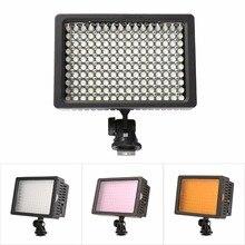 Lightdow 160 led mini led luz de vídeo foto de iluminación en la cámara zapata de dimmable de la lámpara led para canon nikon sony videocámara dv dslr