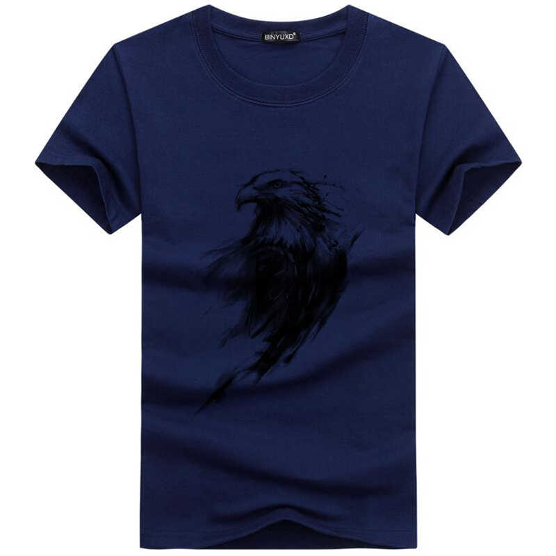 Summer Casual Men's T-Shirt Funny Print Eagle Eye T-Shirt Brand Fashion T Shirt  Men Short-Sleeve Top Tee Shirt Homme Size 5xl