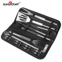 ICESTCHEF 19Pcs/Set Stainless Steel Barbecue Grilling Tools Set BBQ Utensil Outdoor Camping With Carry Bag BBQ Accessories
