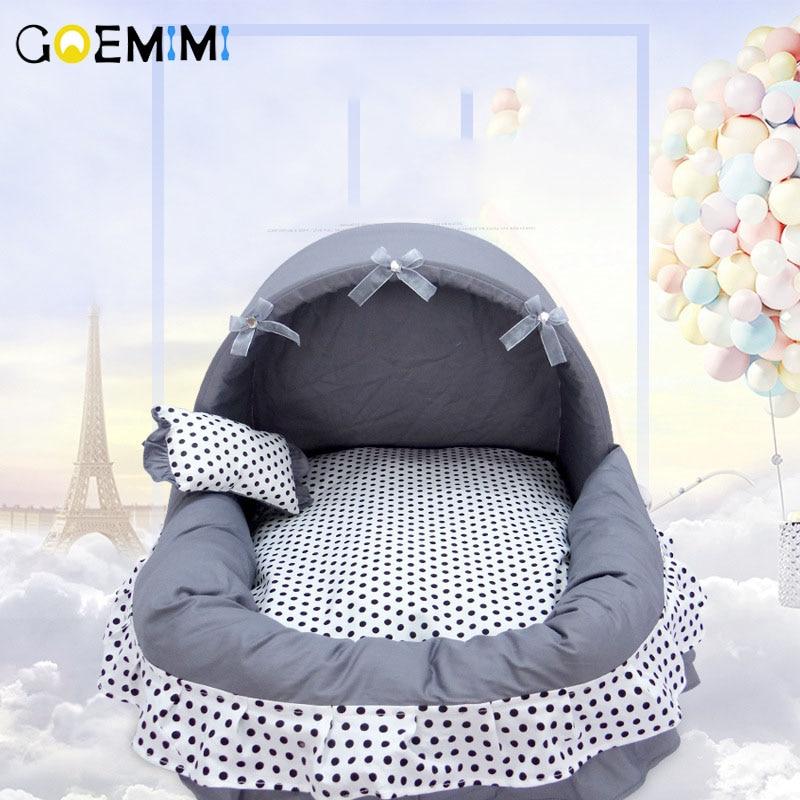 2019 Pet Dot кровать Удобная Роскошная корзина кровать принцессы для щенка PP Хлопок cama para gato прекрасный дизайн дом для кошки
