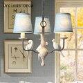 Nordic Americano retro resina pássaro ferro Lustre lustre sala de estar quarto sala de jantar de linho personalizado frete grátis