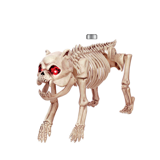 halloween prop skull dog skeleton animal statues for party decoration ktv cosplay e2s