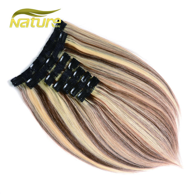Naturehere Clip In Human Hair Extensions 7pcs 100g 120g Remy