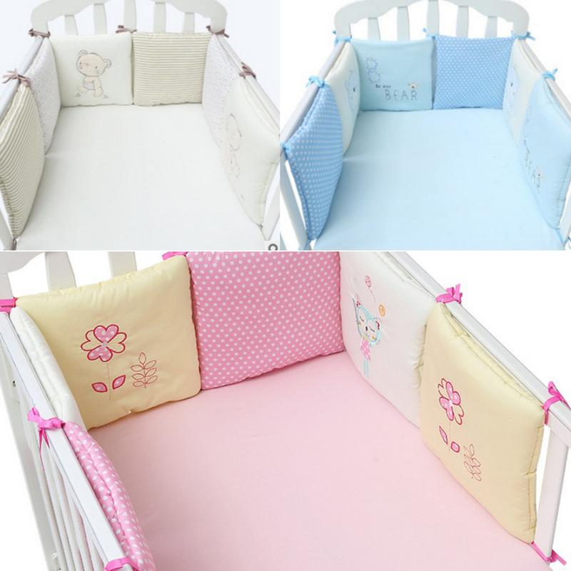 Cot Bumpers All Round Padded Crib Bumper Set for Ttoddlers Baby Breathable 180
