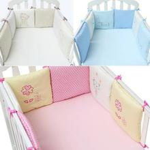 BBSONG 6pcs Baby Cotton Bed Bumpers Infant Bedding Protector Crib Set Toddler Cartoon Cot Bumper Backrest for Boys Girls Newborn цена