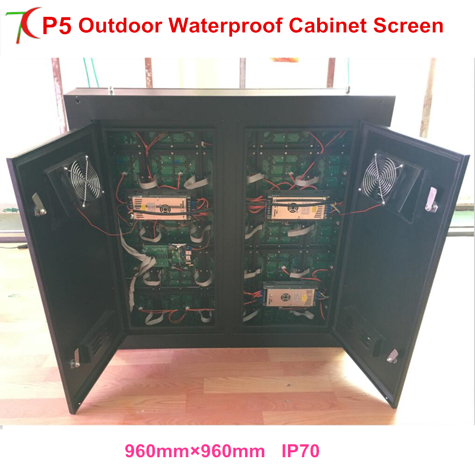 P5 Outdoor 960*960mm Waterproof Screen With Asynchronous Control Card For Small Outdoor Advertisement ,shopping Signs