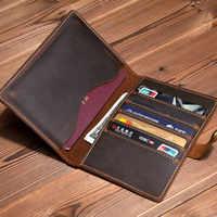 Luxus Handgemachte Reise Reisepass Männer Top Kuh Leder Fall für Reisepass Reise Brieftasche Oragnizer Vintage Haspe Paspoort Abdeckung