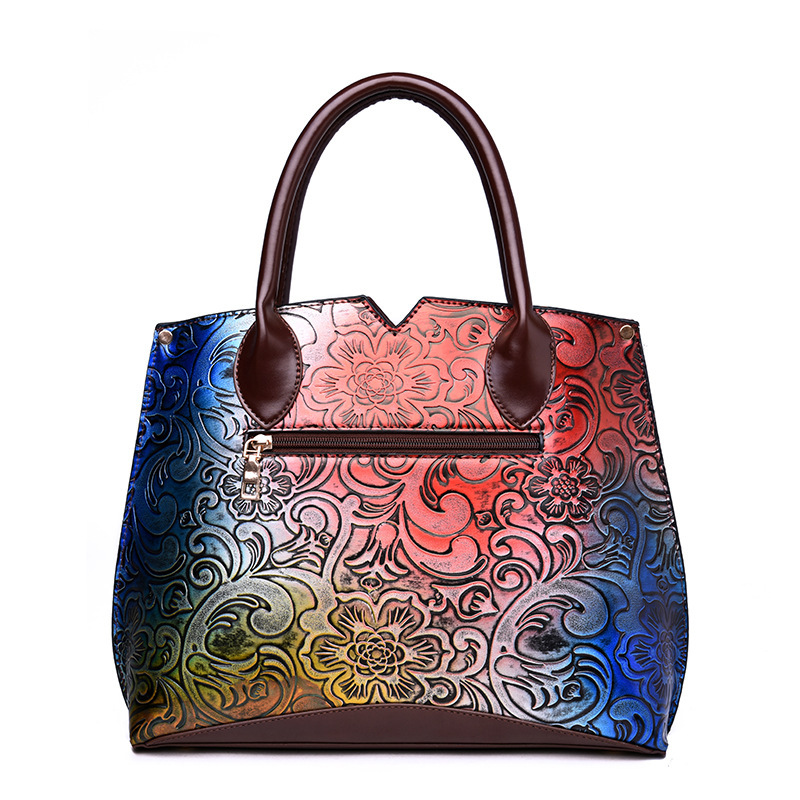 Gykaeo 2018 Spring Fashion Painting Embossed Women Handbag PU Leather Shoulder Bags Handbags Women Famous Brands Messenger Bag