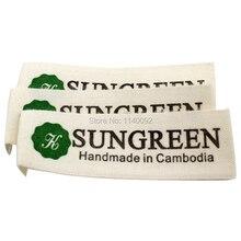 free shipping custom clothing cotton label printing/garment main label/washable collar brand name trademark 1000 pcs a lot