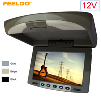 FEELDO DC12V 9 Flip Down TFT LCD Monitor Car Monitor Roof Mounted Monitor 2 Way Video Input 3 Color For Choice #1282