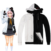 Danganronpa Monokuma Cosplay Costume Unisex Hoodie Sweatshirt Hooded Black White Bear