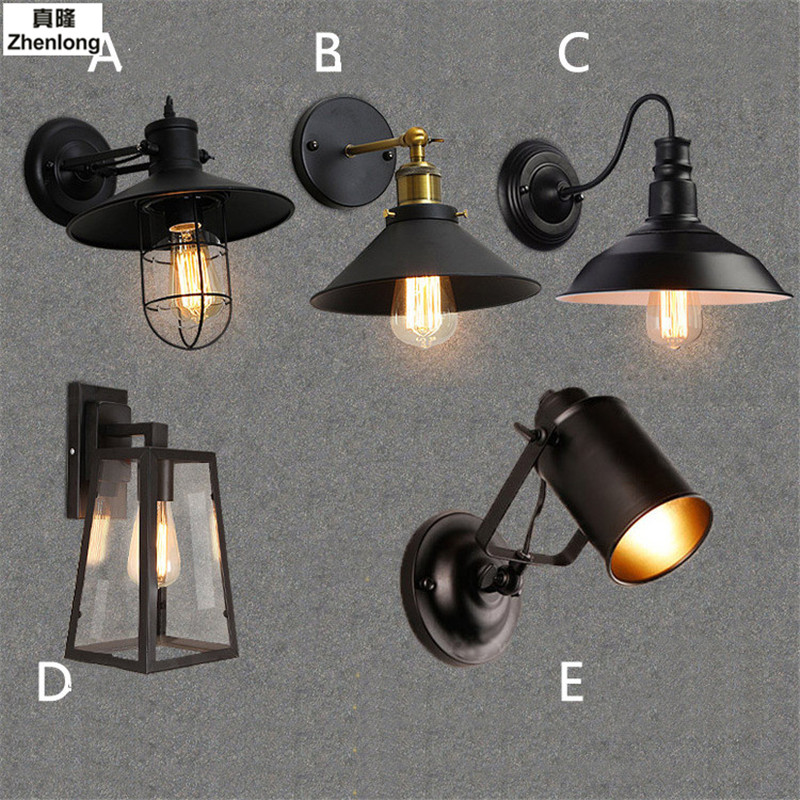 Creativity Wall Lamp American Retro Country Loft Style LED Lamps Industrial Vintage Iron Wall Light for Bar Cafe Home Lighting цена 2017