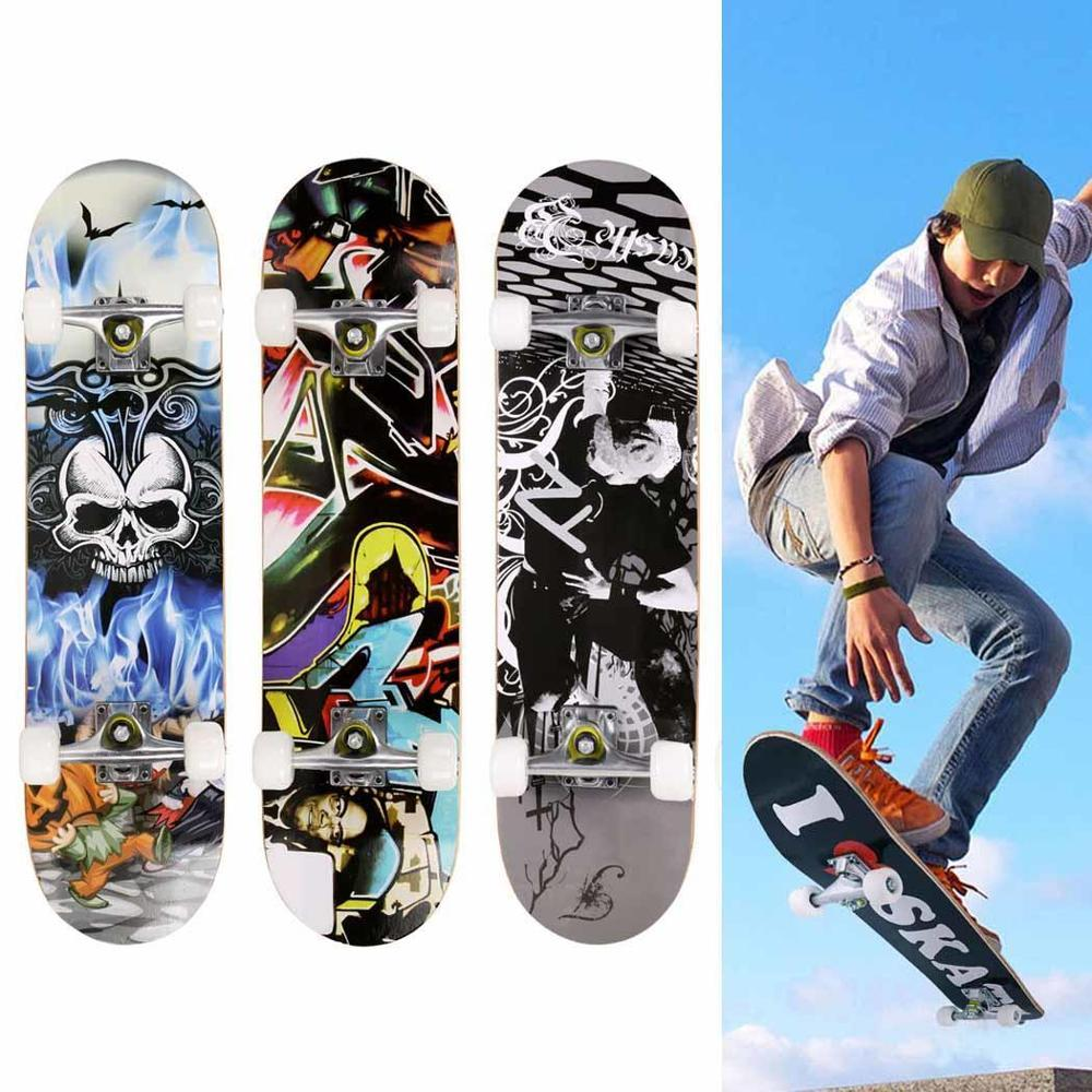 Fashion PRO Scooter Skateboard Print Wood board Stunt Scooter for Adult Skate Board Outdoor Extreme Sports Long Board Hoverboard Скейтборд