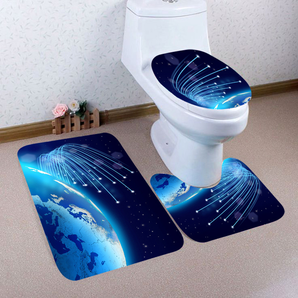 Surprising Us 6 36 33 Off 3Pcs Carpet Christmas Bathroom Mat Set Embossing Flannel Floor Rugs Cushion Toilet Seat Cover Bath Mat For Home Decoration In Bath Gmtry Best Dining Table And Chair Ideas Images Gmtryco