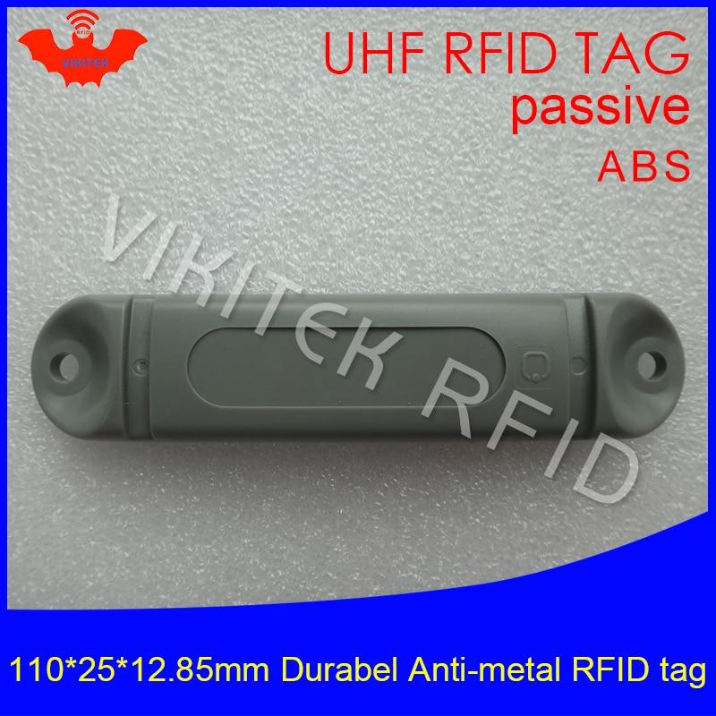 UHF RFID anti-metal tag 915mhz 868mhz M4QT EPCC1G2 6C 110*25*12.85mm durable ABS stocking shelves smart card passive RFID tags uhf rfid anti metal tag 915mhz 868mhz higgs3 epcc1g2 6c 13 5 21 12 8mm durable abs stocking shelves smart card passive rfid tags
