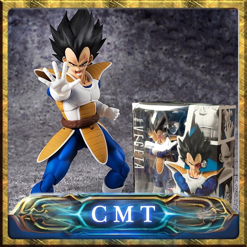 CMT INSTOCK action figure Dragon Ball Z BANDAI S.H.Figuarts Black Head VEGETA V2.0 sunflower instock 100