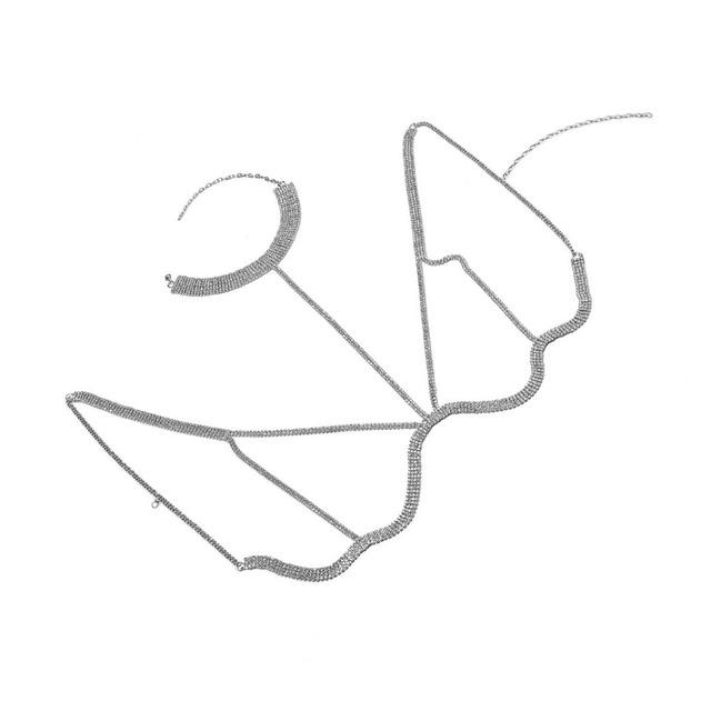 Rhinestone Multilayer Rows Crystal Bra Chain4