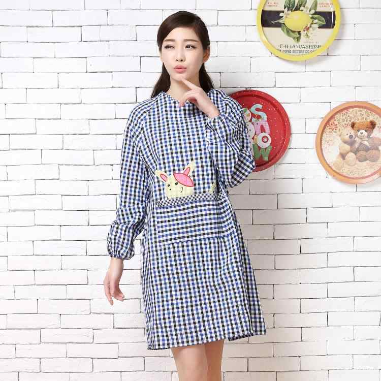 c47f5f23c32 ... Korean fashion kitchen long-sleeved aprons antifouling oil overalls men  and women adult smocks anti ...