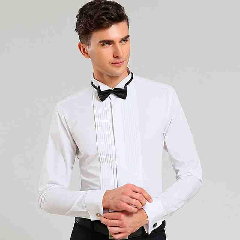 2017 Clical Design Wedding Men Shirts French Cuff S Tuxedo Shirt Long Sleeve Dress Formal Bridegroom In From Weddings