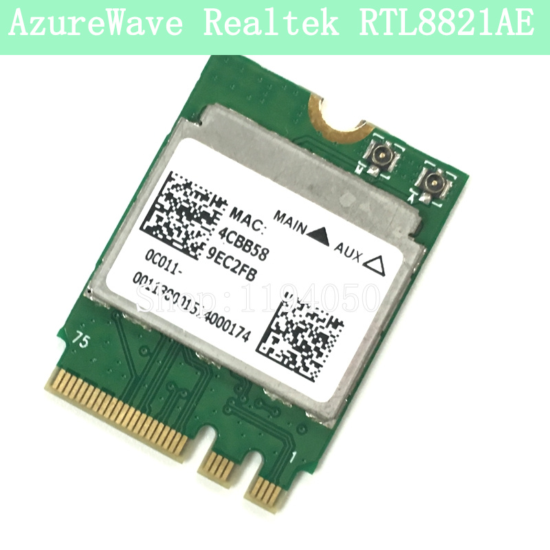 AzureWave Cartão Realtek RTL8821AE 802.11ac Wi-fi Sem Fio Bluetooth 4.0 RTL8821AENF RTK-RTL8821AENF RTL8821 WLAN placa de rede 8821