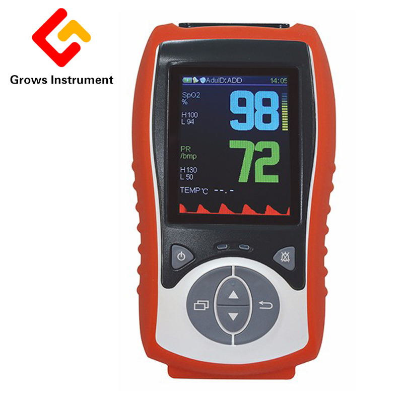 Veterinary handheld pulse oximeter Veterinary SpO2 Sensor Temp probe SPO2 Oximetro de dedo pulso Blood Oxygen monitor CE 2.8 LCD traditional urine refractometer clinical protein veterinary human blood plasma handheld tool
