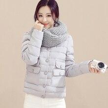 2016 горячие продажа зимние пуховики женщины пять цветов хлопка молнии пуховики моды короткий стиль согреться дешевые вниз куртки