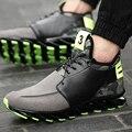 Zapatos de los hombres 2016 Nueva Marca de Moda Casual de Alta Superior Suede de cuero Transpirable Hombres Formadores Canasta Femme Superestrella Flat Lace Up zapatos