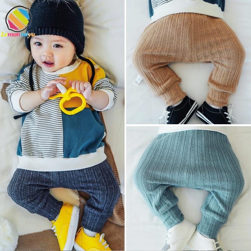 Lemonmiyu Pants Legging Trousers Harem Knit Toddler Baby Autumn Cotton Casual Fashion