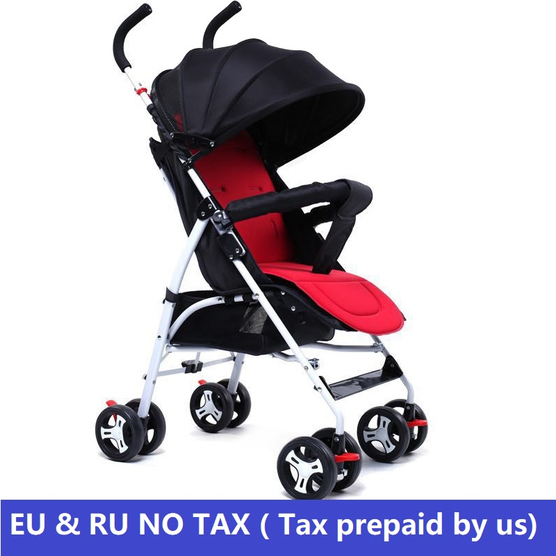 Europe & RU Free Tax Baby strollers 2 in 1 lightweight umbrella stroller doll can sit can down baby trolley mother baby stroller eu ru no tax baby strollers lightweight folding umbrella stroller can sit can lie ultra light portable baby strollers for dolls