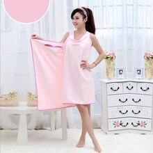 d33c46d46c 80*145cm Women Bath Towel Wearable Microfiber Fabric Wash Clothing Soft Wrap  Skirt Towels Absorbent