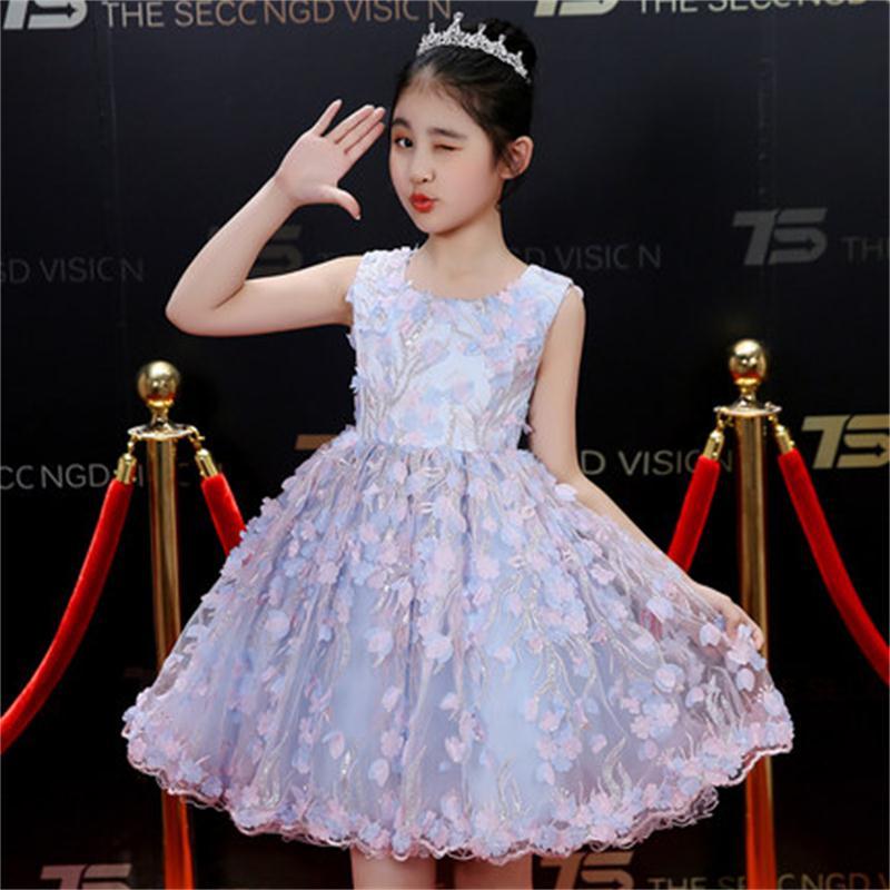 High quality children's dress birthday dress flower girl princess dress girls piano costume