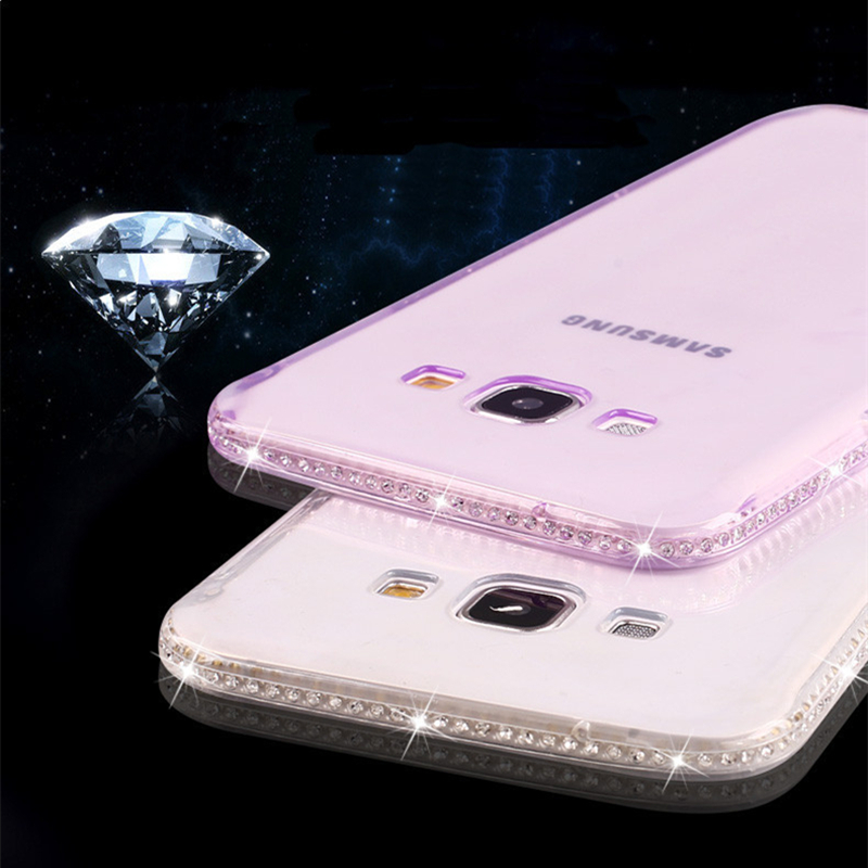 Galleria fotografica For Samsung Galaxy S6 S7 edge S8 Case Silicone Diamond Fashion Cover for Samsung Galaxy J3 J5 J7 2017 A3 A5 A7 2016 Case TPU P05
