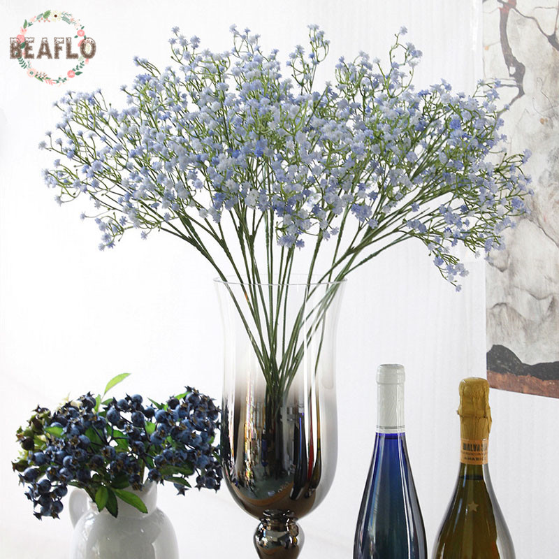 3PC DIY Artificial babys breath Flower Gypsophila Fake Silicone plant for Wedding Home Hotel Party Decorations 3 Colors