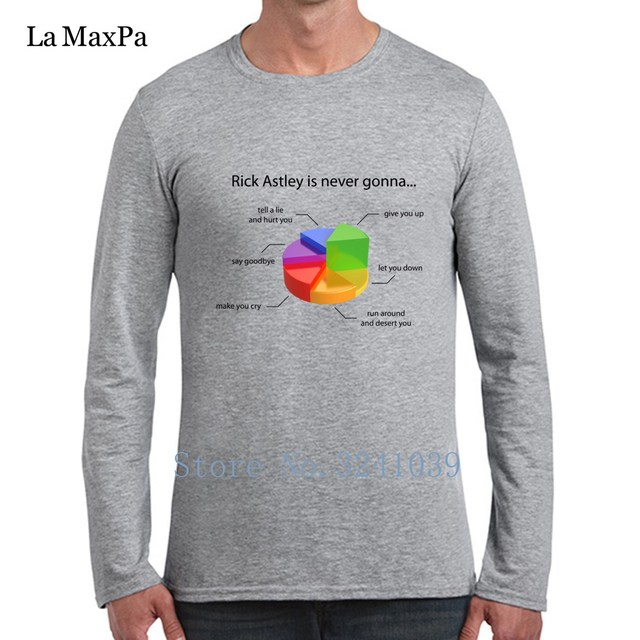 La Maxpa Good Rick Astley Pie Chart Comfortable Mens Tee Shirts