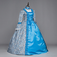 FREE SHIPPING! 18th Century Dress Rococo Gown Marie Antoinette / Pompadour/Princess Court Ball Gown Dress Halloween Costumes