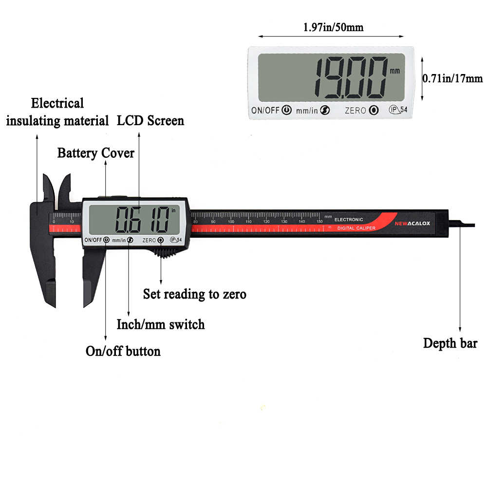 Detail Feedback Questions about NEWACALOX Touch Digital Caliper ...