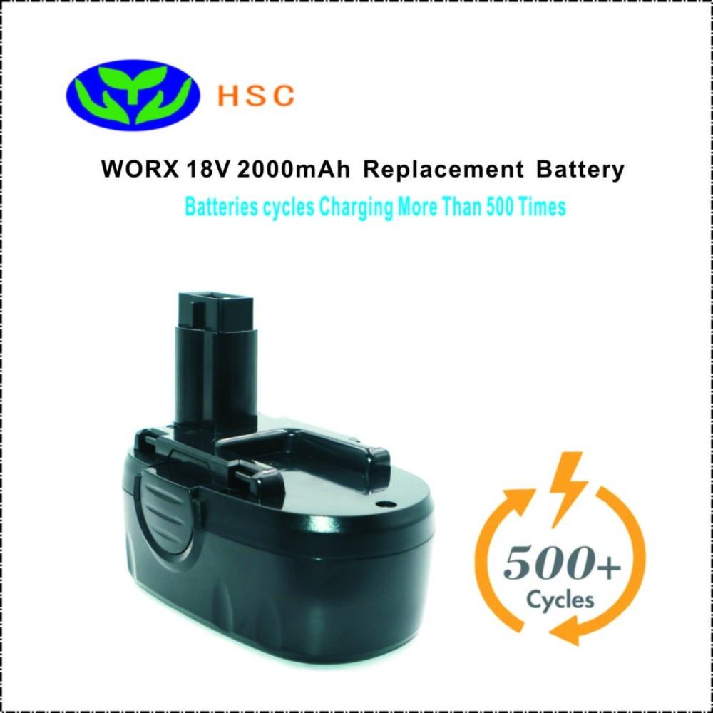 WOX18B 2000mAh 18V NiCAD Battery Replacement WORX WA3127 Original Battery