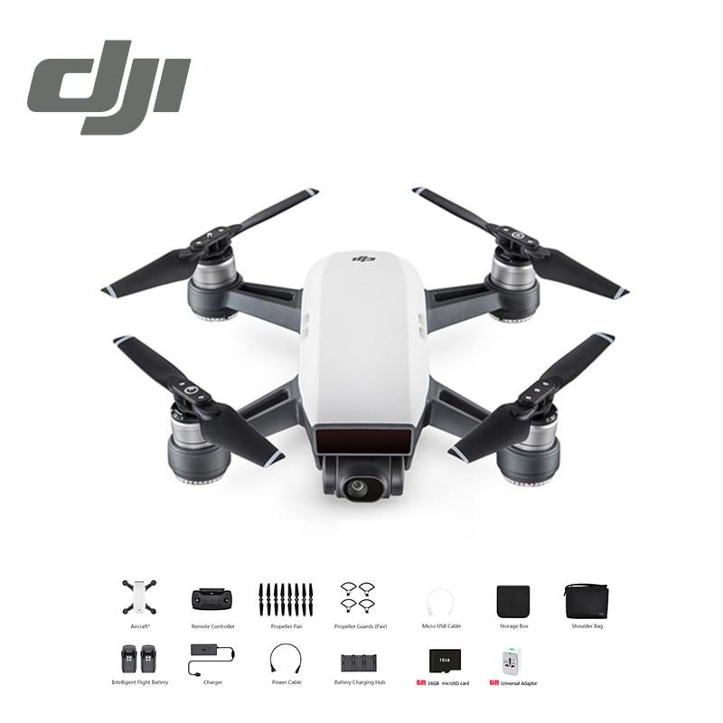 DJI Spark Volare Più Combo Drone FPV Quadcopter Elicottero (regalo libero 16 GB MicroSD Card/Adattatore Universale) 5 Colori In Azione