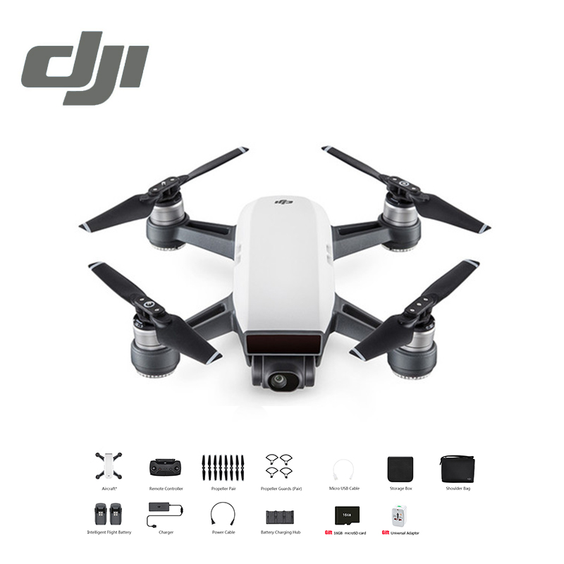 DJI Spark Fly More Combo Drone FPV Quadcopter Helicopter (free gift 16GB MicroSD Card / Universal Adaptor) 5 Colours In Stock dji spark drone 3 in 1 car charger battery charging