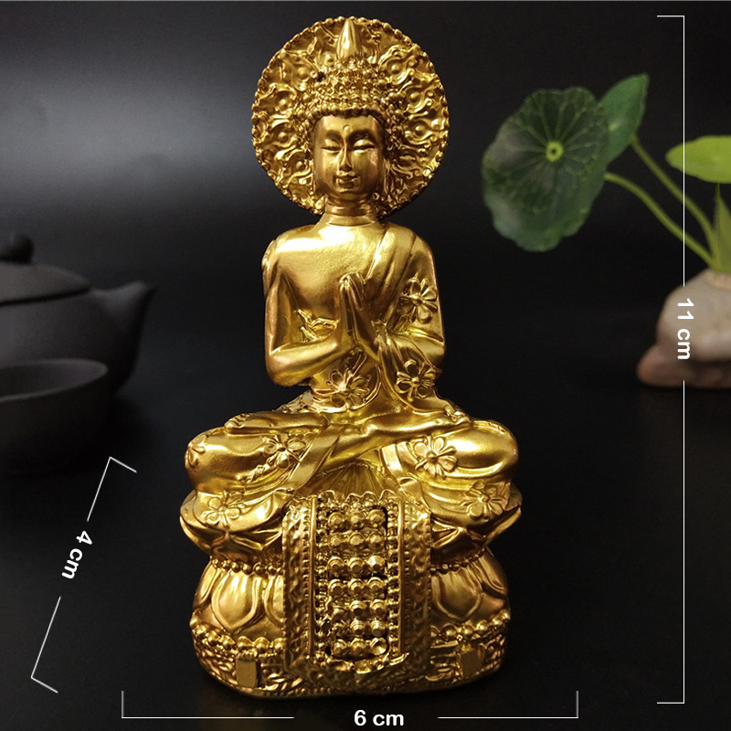 Thai Buddha Garden Ornament Spiritual Sculpture Buddhist Satatue Feng Shui Decor