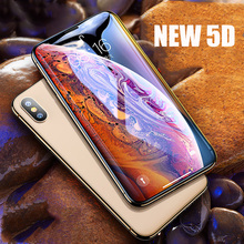 phone Tempered glass for iPhone X XR XS MAX protective film 5D full cover curved screen protector for iPhone 6 6S 7 8 plus glass цены