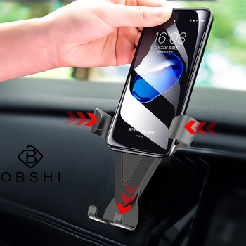 Car Phone Holder for iPhone Xs Max X 8 7 for Samsung s8 Gravity Air Vent Mount Holder for Phone in Car Mobile Phone Holder Stand image