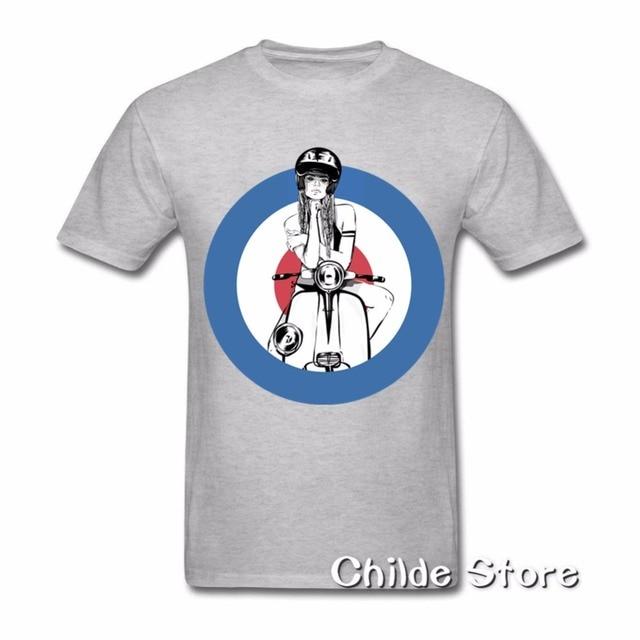 eb9cebcff 2018 Hot Guitar Girl Printing Men Shirt Holiday gifts Fashion Motorcycle  Vespa T Shirt Custom Short Sleeve T-shirt Men