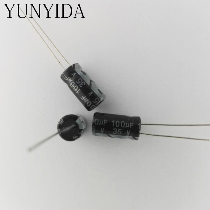 Aluminum Electrolytic Capacitor 35V 100uf  50V 25V 16V 10V  47UF 33UF 22UF 10UF 4.7UF 3.3UF 2.2UF 1UF 0.47UF 50PCS