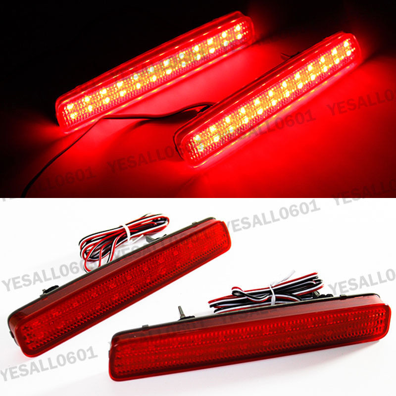CYAN SOIL BAY LED Rear Bumper Reflector Brake Fog Lights For Toyota NOAH VOXY 80 Pruis 40 Series