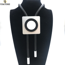 YD&YDBZ New Arrival Square Geometric Pendant Necklace Women Jewellery Long Necklace Handmade Rubber Jewelry Choker Harajuku Punk the sorrows of young werther and selected writings