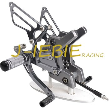 CNC Racing Rearset Adjustable Rear Sets Foot pegs Fit For Kawasaki Z750 2004 2005 2006 TITAINUM